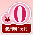 使用料1ヵ月0円